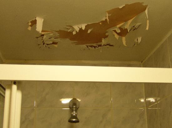 Normandie Hotel: shower ceiling