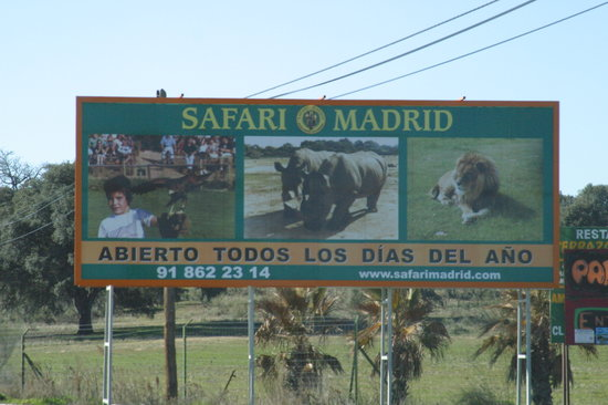 Safari de Madrid: Sign at the entrance