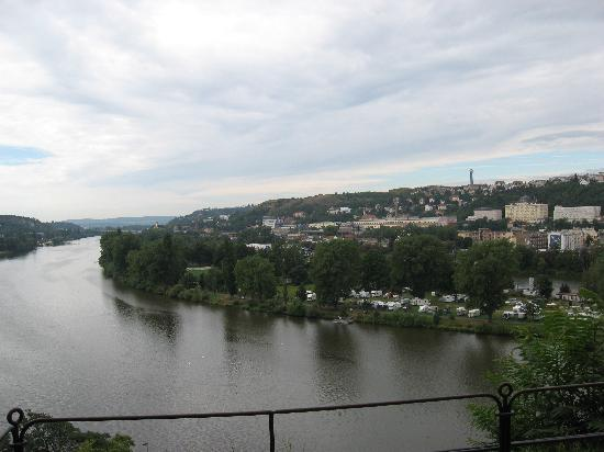 Hotel Vysehrad: view from Vysehrad park