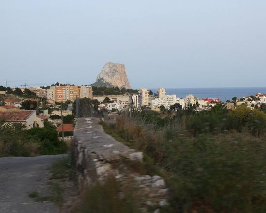 Кальп, Испания: Calpe from a distance
