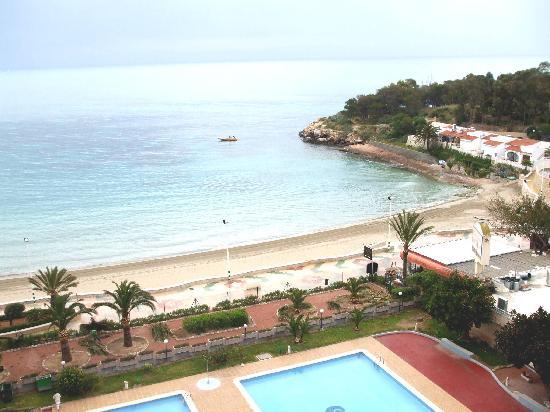 Кальп, Испания: looking down onto Calpe beach