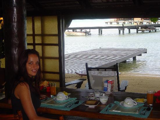 Tahaa, Frans-Polynesië: colazione romantiche
