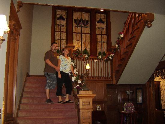 The Great Oaks Manor: The grand staircase