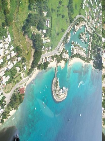 Barbados Beach Club: view from the helicopter