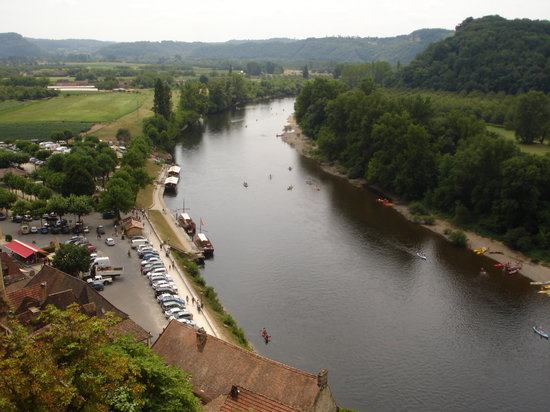 Dordonia, Francja: View of the Dordogne River from Roche Gagneac