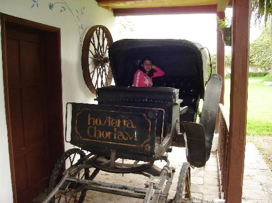 Hacienda- Hosteria Chorlavi: Magnifica carroza dentro de la Hosteria Chorlavi