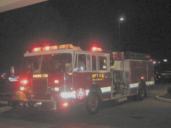 Quality Inn & Suites Indianapolis West - Brownsburg : One of the fire trucks