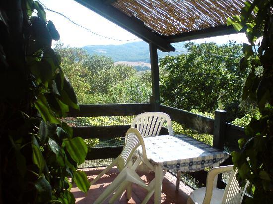 La Pergola: Balcon avec vue sur la campagne toscane