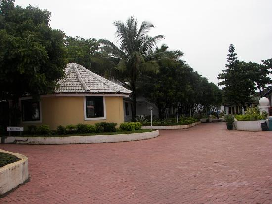 Angels Resort: view from the entrance gate