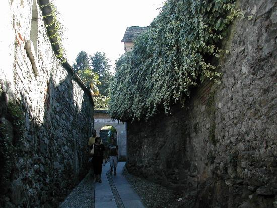 Lake Orta: a narrow street of Orta