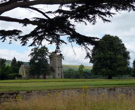 Parham House & Gardens: Church across the park