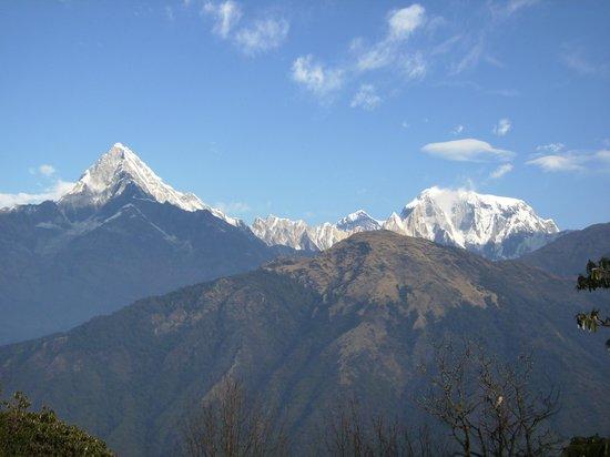 Katmandu, Nepal: Himalaya near Pokhara