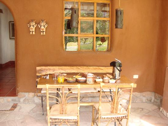 Urubamba Villas: breakfast