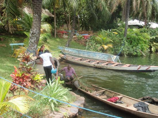 Akosombo, กานา: fresh fish every day