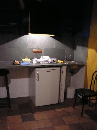 Apartamentos El Tiempo: mini kitchen