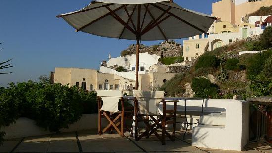 Ifestio Villas: the main terrace