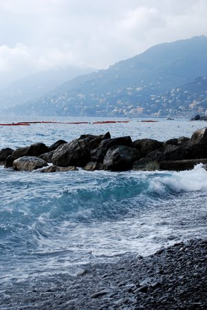 Camogli, Italien: wave