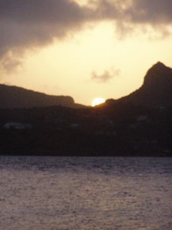 Palm Island Resort & Spa : sunset - watch a few - be sure to have rum in hand