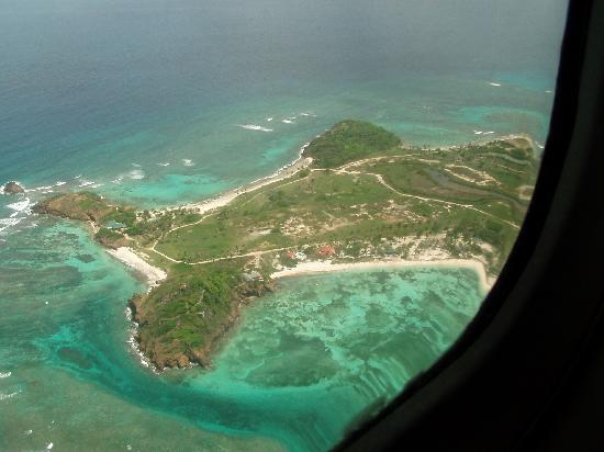 Palm Island Resort & Spa : palm island from above