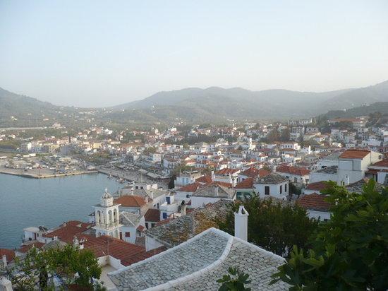Skopelos Town rooftops