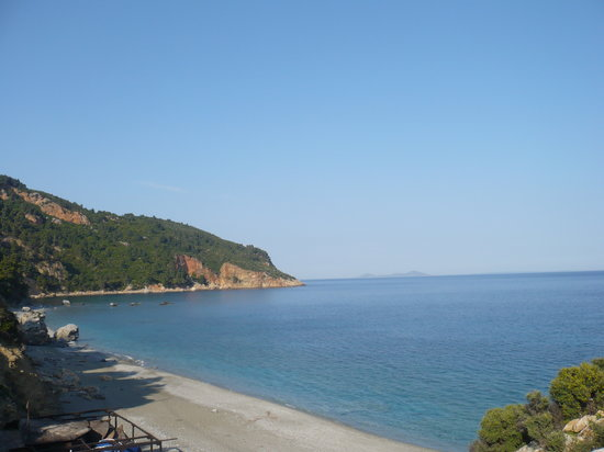 Skopelos, Grækenland: Velanio in May