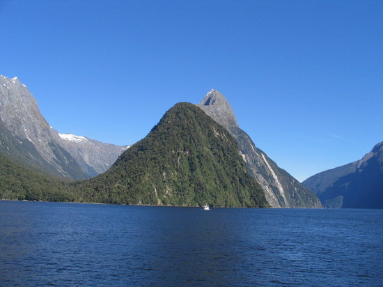 New Zealand: Mitre peak en Milford Sound