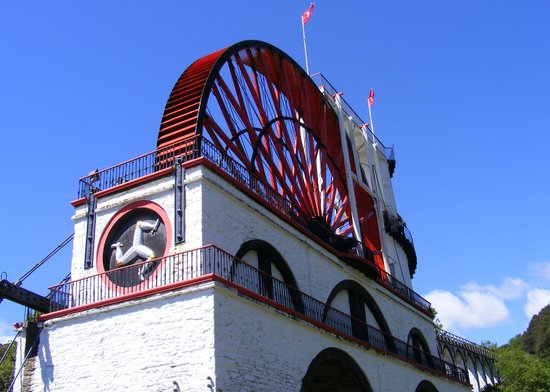 Île de Man, UK : Laxey Wheel