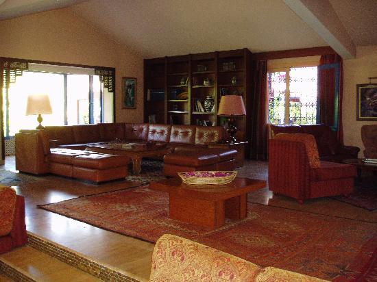 Villa Mandarine: the lounge area