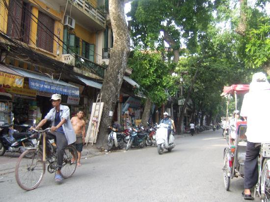 street beside Chains First Eden Hotel