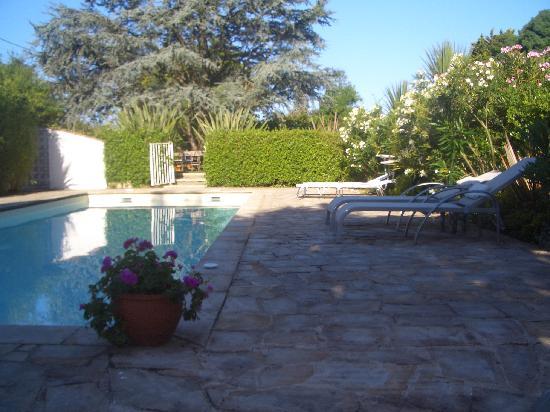 Maison Arbolateia Chambres d'hotes : Vue piscine