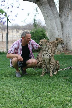 Kamanjab, Namibia: The other half and tame Cheetah