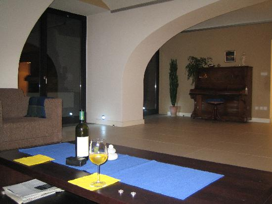 Village House: A czech wine in the sitting area.