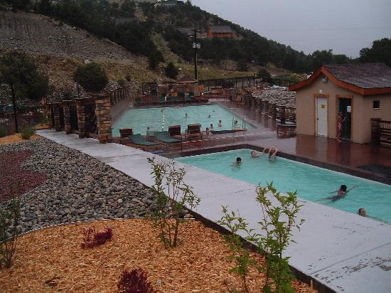 Mount Princeton Historic Bath House & Hot Springs: Soaking Pool, Lap Pool (in back)