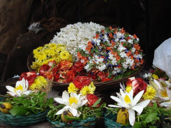 Tamil Nadu, Indie: devotional flowers