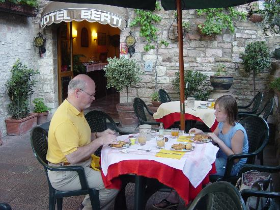 Breakfast at Hotel Berti, Assisi