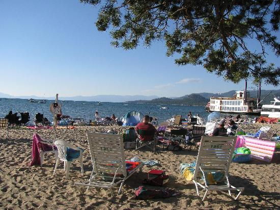 Tahoe Beach and Ski Club: Private beach at South Shore Tahoe