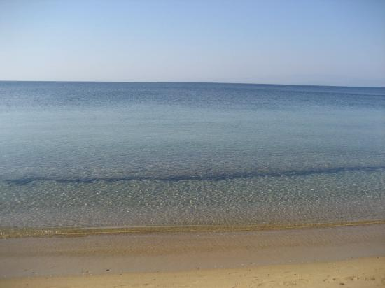Agia Paraskevi, Grecja: Beach at 8:30 am