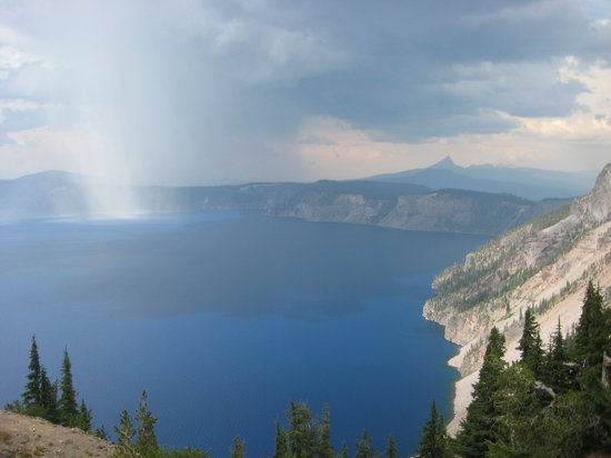 Crater Lake - rain shower.