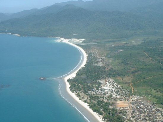 Freetown, Sierra Leona: Aerial view of tokeh beach