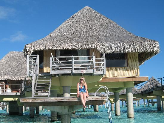 InterContinental Bora Bora Le Moana Resort: My wife on the overwater dock to our room