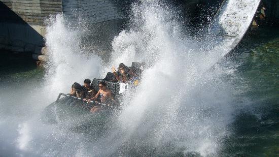 Six Flags Discovery Kingdom: Mullholand Falls ride
