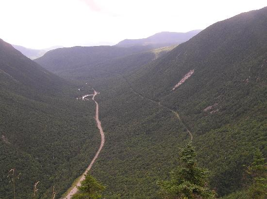 Beech Hill Campground and Cabins: view of Crawford Notch from summit of Mt. Willard