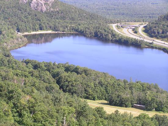 Beech Hill Campground and Cabins: Echo Lake from Canon Mountain Tram