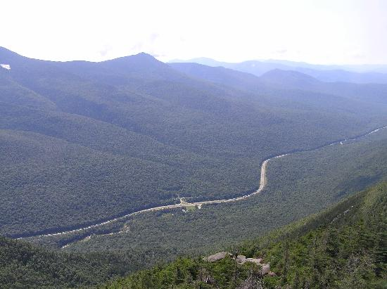 Beech Hill Campground and Cabins: Franconia Notch from summit of Mt. Canon