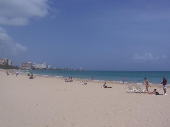 San Juan Airport Hotel : The beach at Isla Verde -- I recommend staying at a hotel there