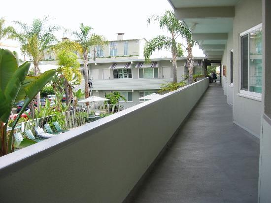 La Avenida Inn: from the 2nd floor