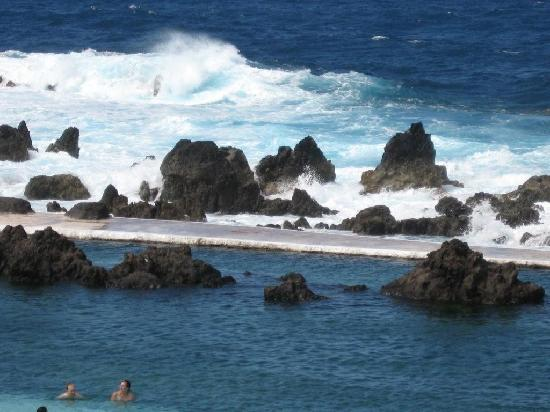 Porto Moniz, Portugal: Natural Sea Water Pools Windy Day