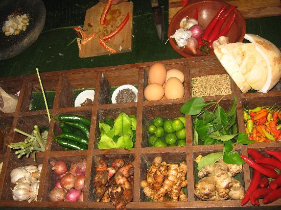 Hotel Tugu Bali: Epices pour cours de cuisine