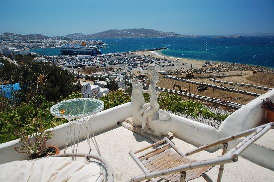 Omiros Hotel: vistas de Mykonos desde el hotel