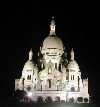 Il Sacro Cuore La Sera Foto Di Parigi 206 Le De France